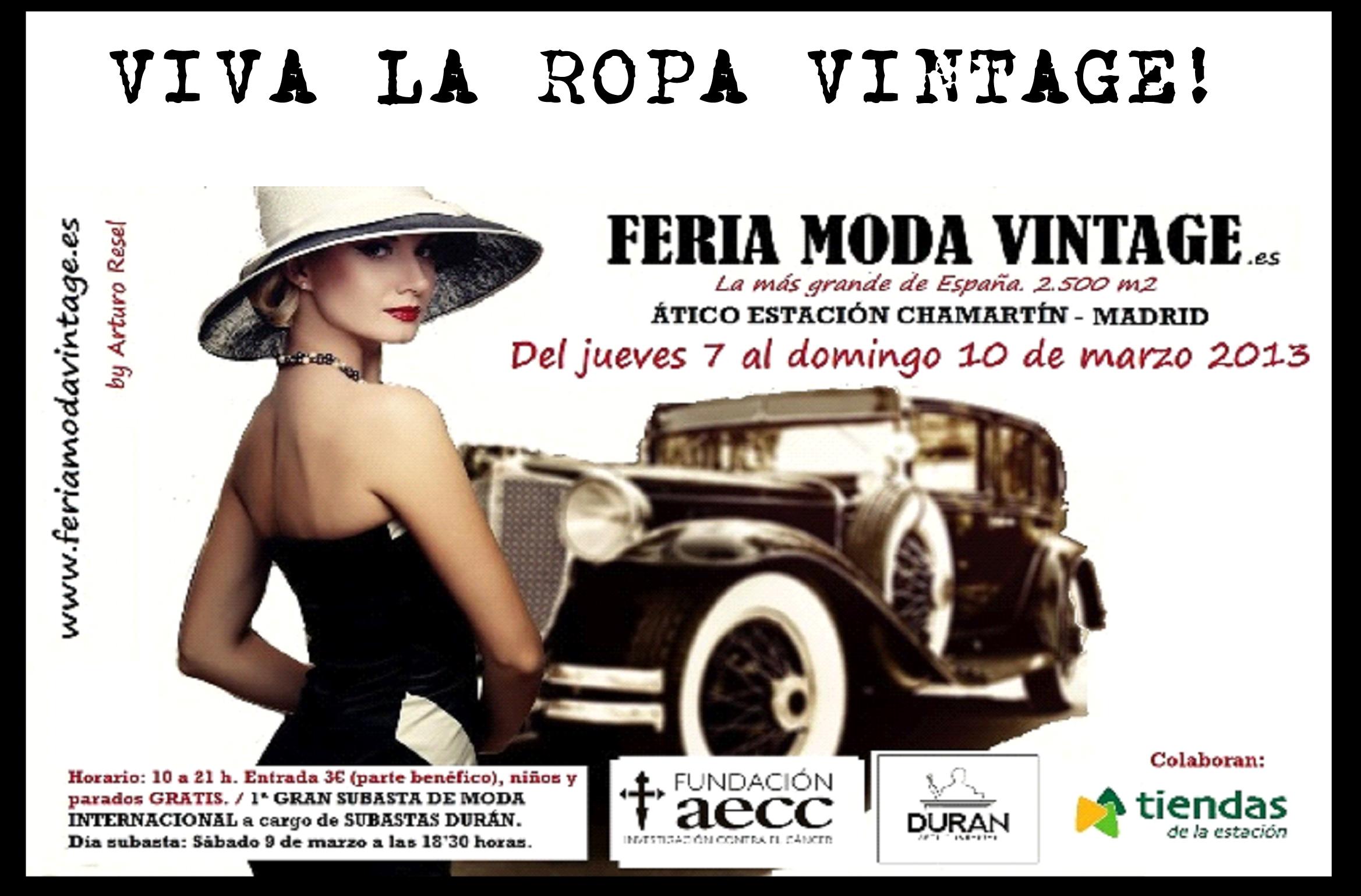 Feria de la Moda Vintage en Madrid 2013