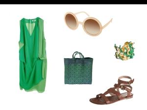 post vestido verde
