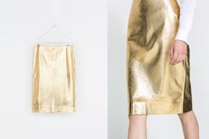 post falda dorada de zara
